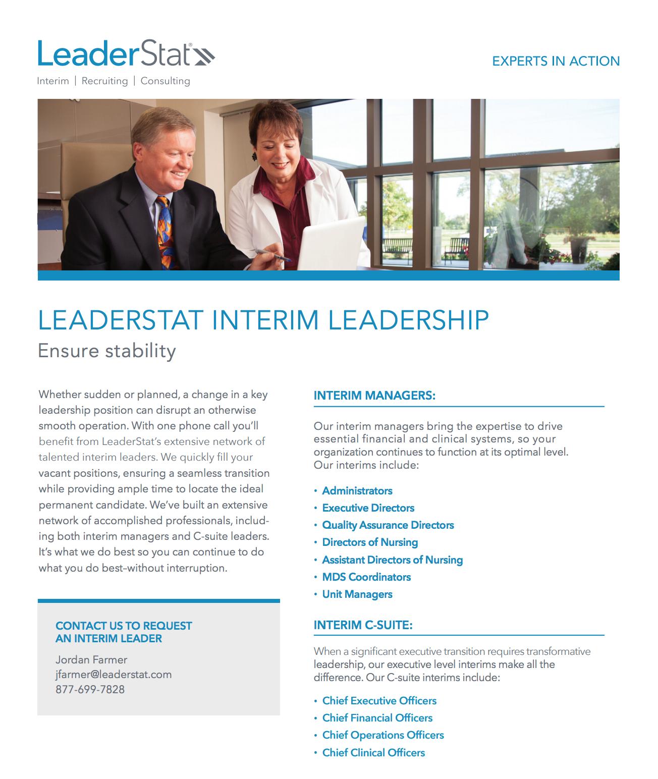 Interim Leadership One-Sheet