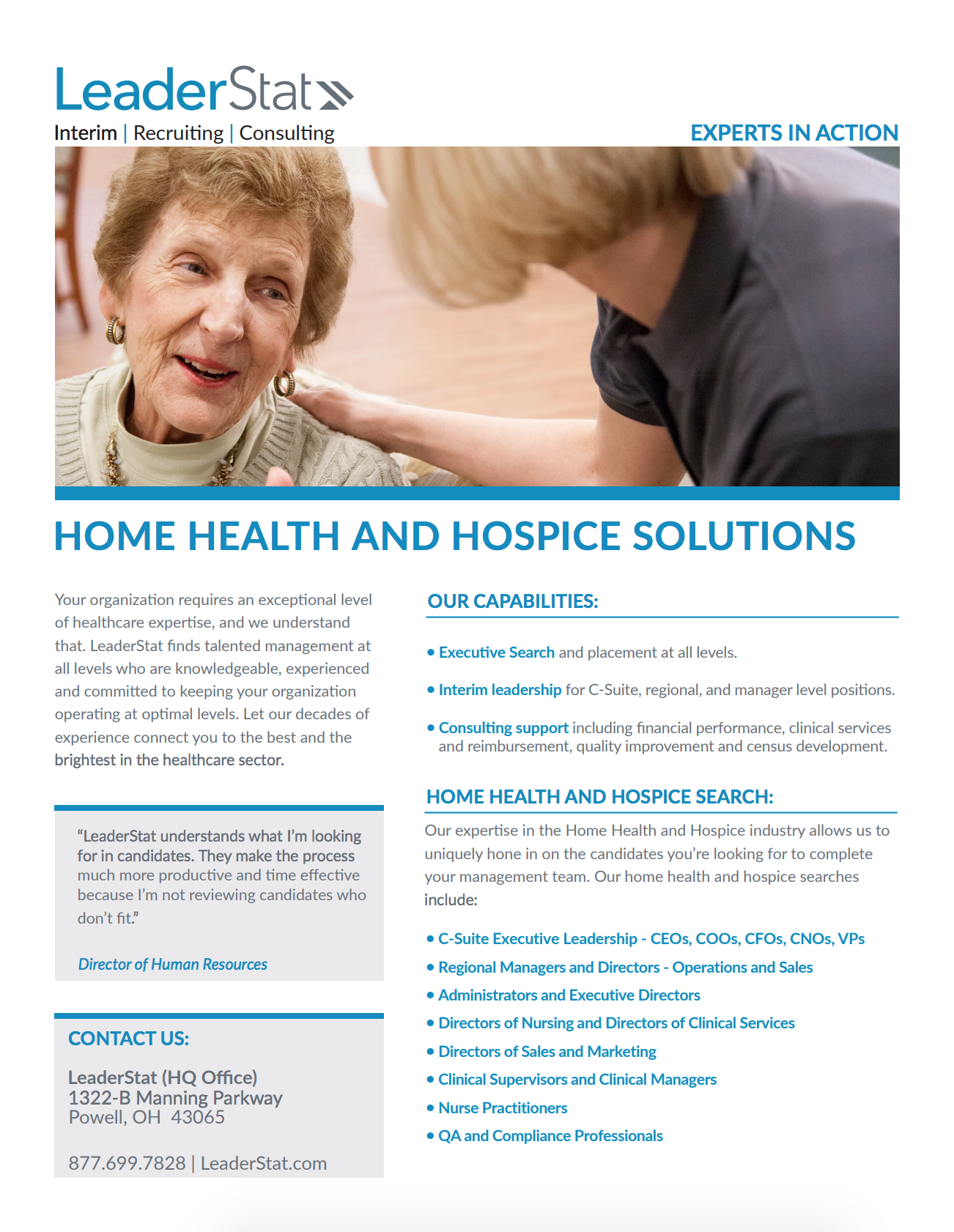 Home Health | Hospice One-Sheet