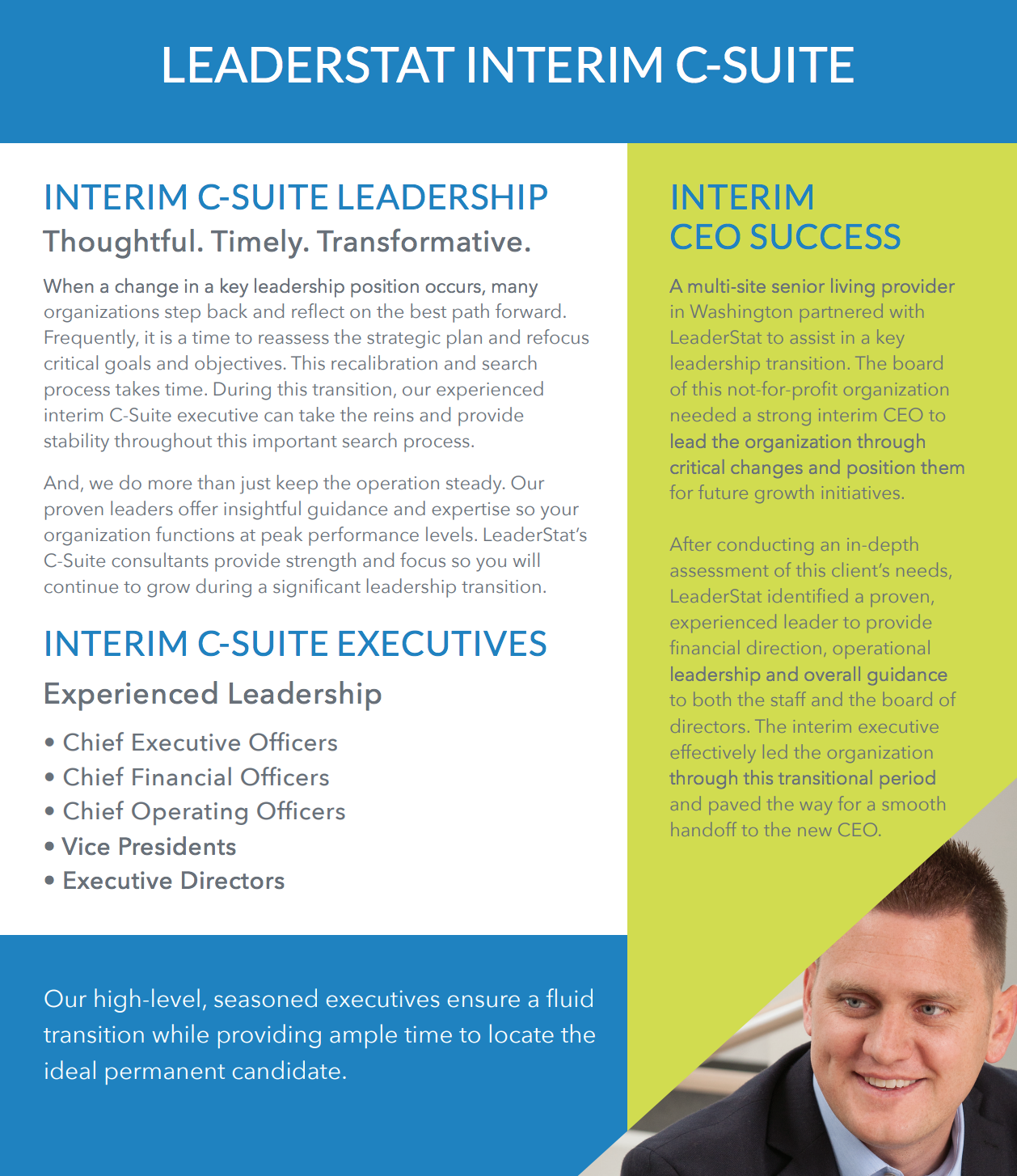 LeaderStat Interim C-Suite Brochure