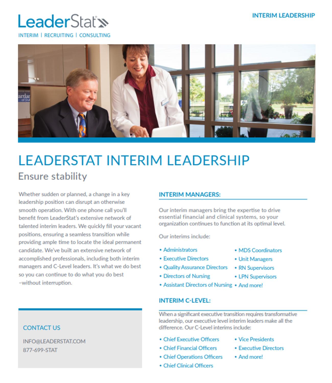 interim leadership