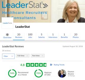 leaderstat recruiters glassdoor reviews